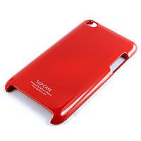 Чехол-накладка для iPod Touch 4, SGP, глянцевый пластик, Красный /case/кейс /айпод, фото 1
