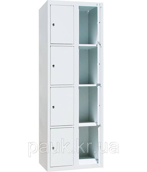 Торговая камера хранения на 8 ячеек ШО-400/2-8 уп., шкаф для хранения вещей