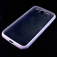 Чехол Накладка для Samsung i9152 Galaxy Mega 5.8, пластик с силиконом, сиреневый /case/кейс /самсунг, фото 1