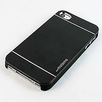 Чехол-накладка для Apple iPhone 4/4S, Motomo INO METAL CASE, алюминий с пластиком, Черный /case/кейс /айфон