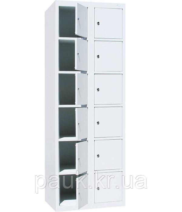 Шкаф ячеечный на 12 отделений ШО-300/2-12, камера хранения торговая