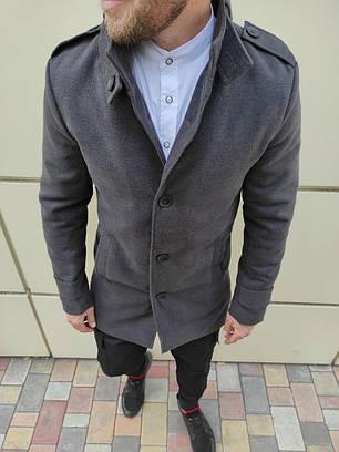 Елегантне кашемірове пальто c коміром стійкою, фото 2