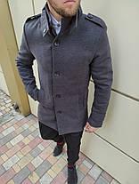 Елегантне кашемірове пальто c коміром стійкою, фото 3