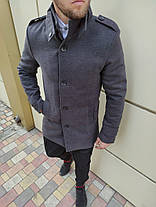 Элегантное кашемировое пальто c воротом стойкой, фото 3