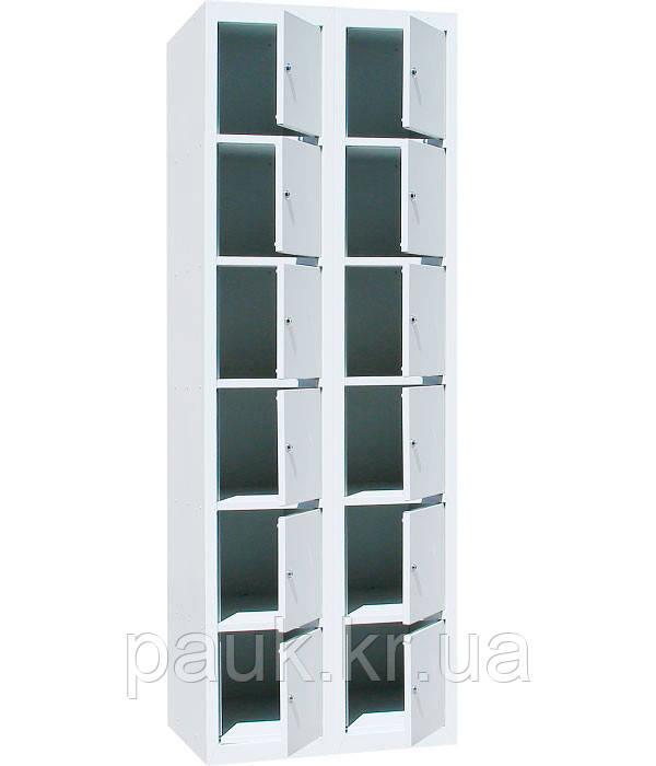 Камера зберігання особистих речей ШО-400 / 2-12, коміркова шафа металева