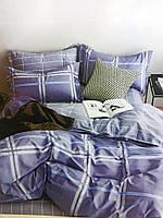 """Полуторное комплекты постельного белья фланель """"Голубая клетка"""""""