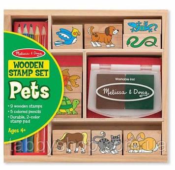 """Набір штампів Melіssa & Doug """"Домашні тварини"""""""