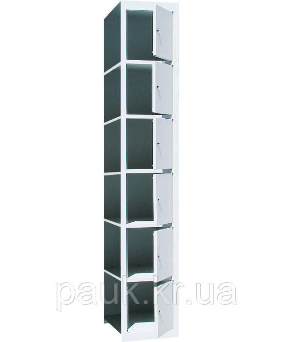 Камера хранения приставная на 6 ячеек ШО-400/1-6, приставной локер