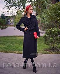 Кашемірове пальто жіноче на підкладці в класичному стилі з поясом (Норма)