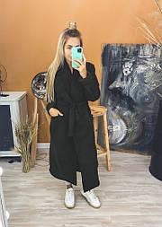 Кашемірове Пальто жіноче двобортне з поясом (Норма)