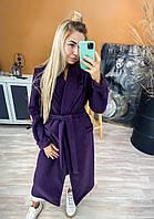 Пальто женское кашемировое двубортное с поясом (Норма)