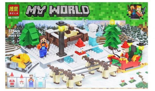 """Конструктор Bela """"Minecraft"""" 11027 Прогулка на санях, 375 деталей"""