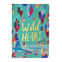 "Блокнот-мотиватор YES ""Wild Heart"" серии ""Fitness"", 140 х 210мм, 96л., фото 1"