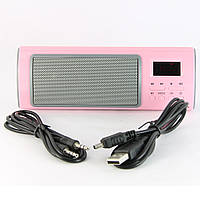 Музыкальная колонка Huanuo H668, Розовый /портативная маленькая переносная колонка, акустика для телефона +