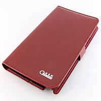 Чехол-книжка боковой для Samsung Galaxy Note 2, N7100, кожаный, Бордовый /flip case/флип кейс /самсунг галакси, фото 1