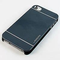 Чехол-накладка для Apple iPhone 4/4S, Motomo INO METAL CASE, алюминий с пластиком, Графитовый /case/кейс /айфон