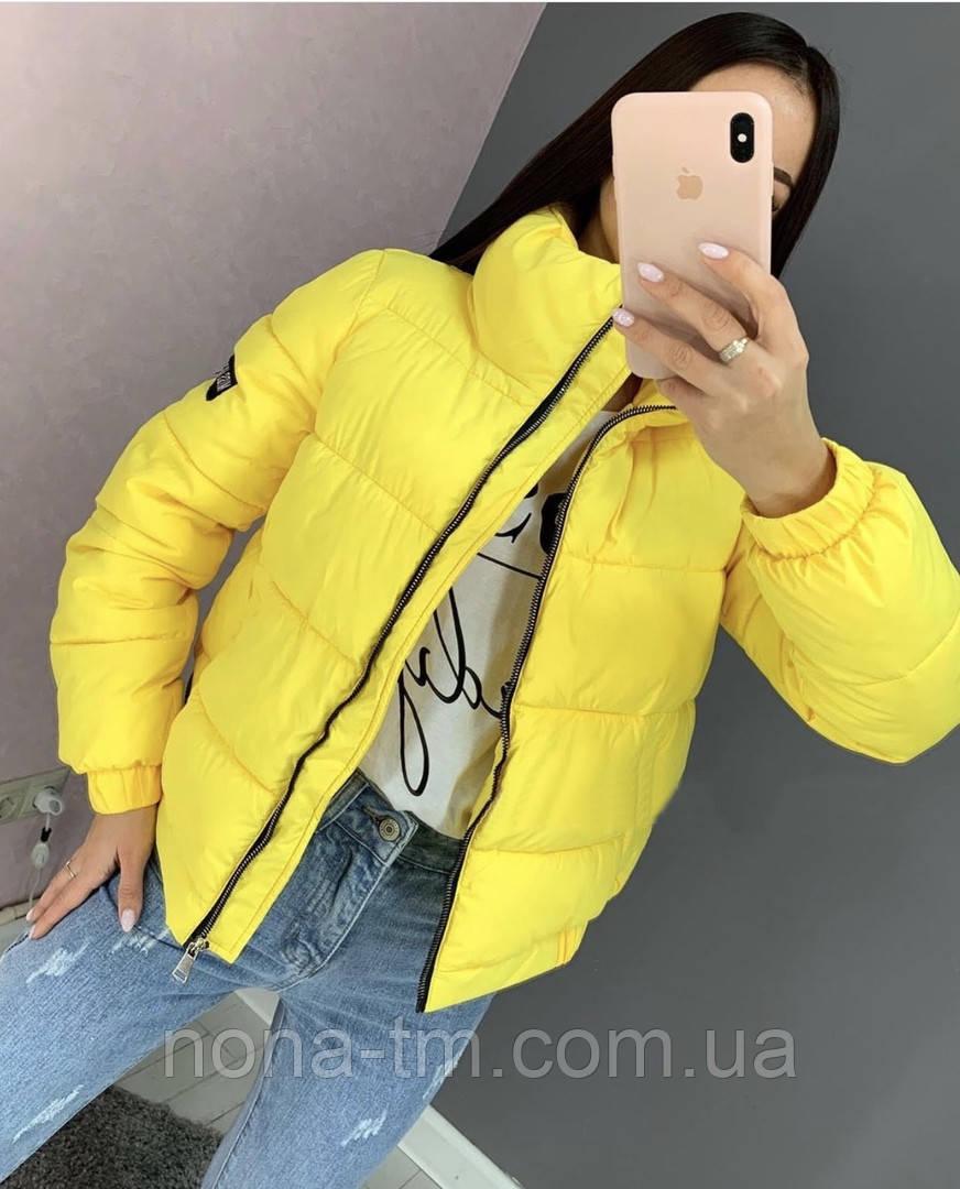 Теплая дутая женская куртка на силиконе в расцветках (Норма)