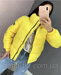 Тепла дута жіноча куртка на силіконі в кольорах (Норма)