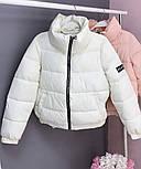 Теплая дутая женская куртка на силиконе в расцветках (Норма), фото 5