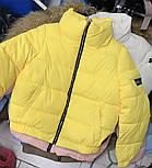 Теплая дутая женская куртка на силиконе в расцветках (Норма), фото 6