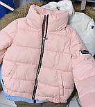 Теплая дутая женская куртка на силиконе в расцветках (Норма), фото 9