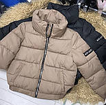 Теплая дутая женская куртка на силиконе в расцветках (Норма), фото 10