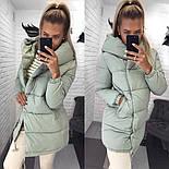 Жіноча зимова куртка подовжена з капюшоном в кольорах (Норма), фото 4