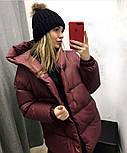 Жіноча зимова куртка подовжена з капюшоном в кольорах (Норма), фото 8