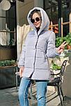 Жіноча зимова куртка подовжена з капюшоном в кольорах (Норма), фото 10