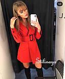 Сукня-піджак жіноча з поясом в кольорах (Норма), фото 2