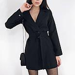 Сукня-піджак жіноча з поясом в кольорах (Норма), фото 3