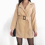 Сукня-піджак жіноча з поясом в кольорах (Норма), фото 4