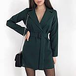 Сукня-піджак жіноча з поясом в кольорах (Норма), фото 5