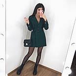 Сукня-піджак жіноча з поясом в кольорах (Норма), фото 6