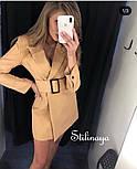 Сукня-піджак жіноча з поясом в кольорах (Норма), фото 7
