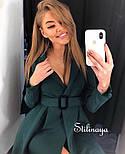 Сукня-піджак жіноча з поясом в кольорах (Норма), фото 10