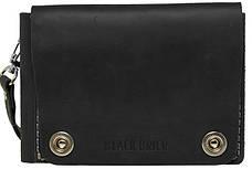 Удобное дорожное вместительное портмоне на кнопках из натуральной кожи Black Brier ТК-3-35Р черный