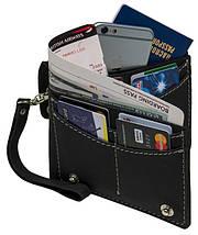 Удобное дорожное вместительное портмоне на кнопках из натуральной кожи Black Brier ТК-3-35Р черный, фото 3