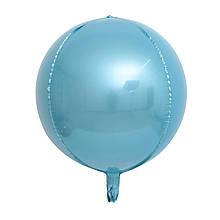 """Фольгована кулька 4D сфера блакитний 10"""" Китай"""