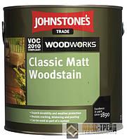 Johnstones (ТМ Джонстоун) Matt Woodstain Clear Классический матовый антисептик 5 л.