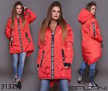 Стильна дуже тепла куртка з капюшоном в кольорах, фото 5