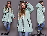 Стильна дуже тепла куртка з капюшоном в кольорах, фото 6