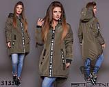 Стильна дуже тепла куртка з капюшоном в кольорах, фото 7