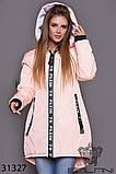 Стильна дуже тепла куртка з капюшоном в кольорах, фото 9