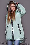 Стильна дуже тепла куртка з капюшоном в кольорах, фото 10