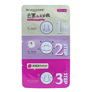Очищающие полоски для носа BIOAQUA 3 Step Pink