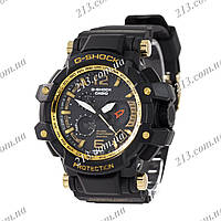 Спортивные часы Casio G-Shock Twin Sensor Black-Gold