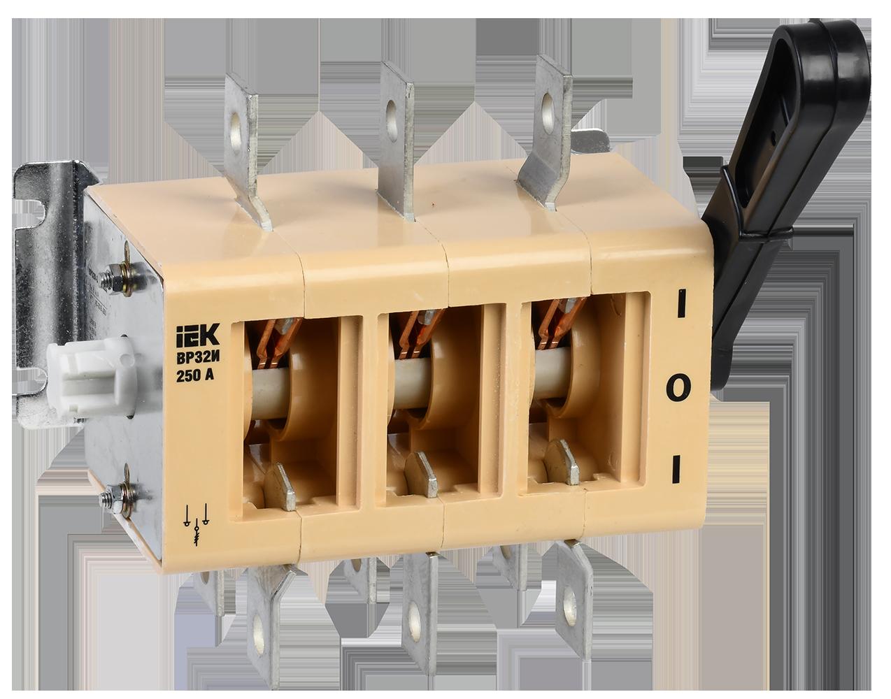 Выключатель-разъединитель ВР32И-35А70220 250А на 2 направления без дугогасительной камеры IEK