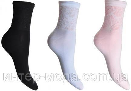 Носки женские ажур двойная резинка р.23 арт.209