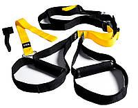 Тренировочные петли TRX - Lumo Yellow 2 in 1 set ТОП качество 4 см ширина